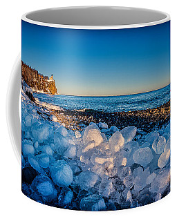 Split Rock Lighthouse With Ice Balls Coffee Mug