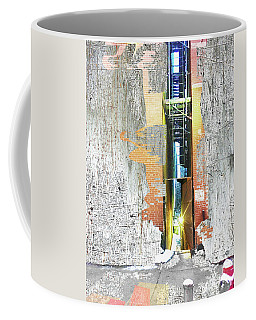 Coffee Mug featuring the mixed media Split by Tony Rubino