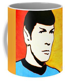 Spock Vulcan Star Trek Pop Art Coffee Mug by Bob Baker