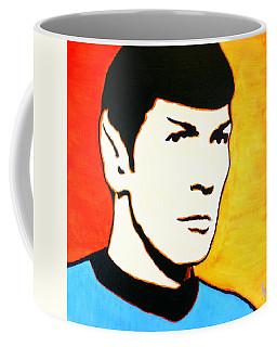 Coffee Mug featuring the painting Spock Vulcan Star Trek Pop Art by Bob Baker