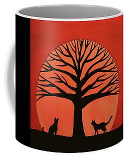 Spooky Cat Tree Coffee Mug