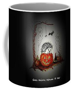 Spooky Hedgehog Halloween Coffee Mug