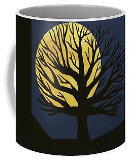 Spooky Tree Yellow Coffee Mug