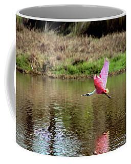 Spoonbill In Flight Coffee Mug