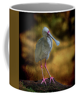 Coffee Mug featuring the photograph Spoonbill by Lewis Mann