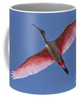 Spoonbill Soaring Coffee Mug