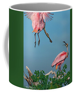 Spoonbills Greeting Coffee Mug