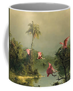Spoonbills In The Mist Coffee Mug