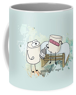 Spoonful Of Sugar Words Illustrated  Coffee Mug by Heather Applegate