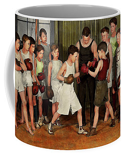 Coffee Mug featuring the photograph Sport - Boxing - Fists Of Fury 1924 by Mike Savad