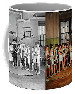 Coffee Mug featuring the photograph Sport - Boxing - Fists Of Fury 1924 - Side By Side by Mike Savad