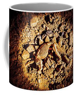 Spotlight On A Extinct Stegosaurus Coffee Mug