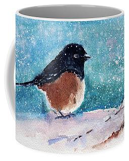Spotted Towhee - All Puffed Up Coffee Mug