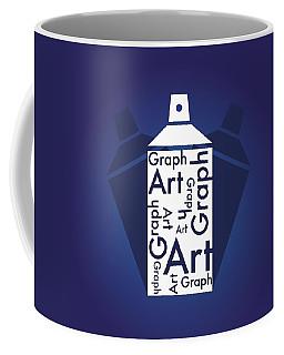 Graph Art Spray Can Coffee Mug by Sheila Mcdonald