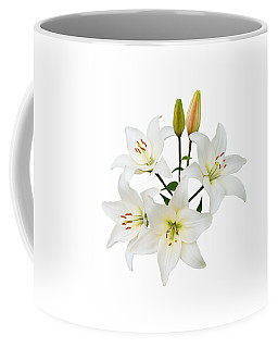 Spray Of White Lilies Coffee Mug by Jane McIlroy