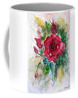 Coffee Mug featuring the painting Spring For You by Jasna Dragun