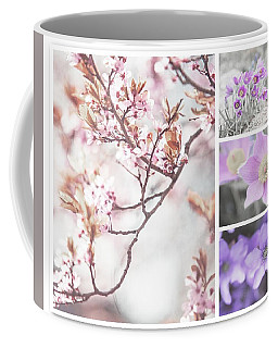 Coffee Mug featuring the photograph Spring Bloom Collage 1. Shabby Chic Collection by Jenny Rainbow