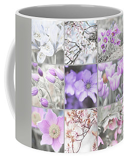 Coffee Mug featuring the photograph Spring Bloom Collage. Shabby Chic Collection by Jenny Rainbow