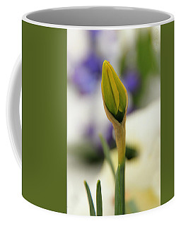 Coffee Mug featuring the photograph Spring Blooms In The Snow by Chris Berry