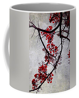 Spring Bloosom In Maldives. Flamboyant Tree II. Japanese Style Coffee Mug