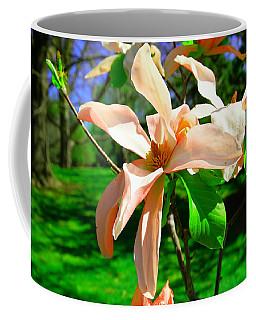 Coffee Mug featuring the photograph Spring Blossom Open Wide by Jeff Swan
