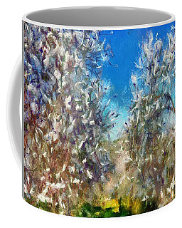 Coffee Mug featuring the painting Spring Blossom by Tracey Harrington-Simpson