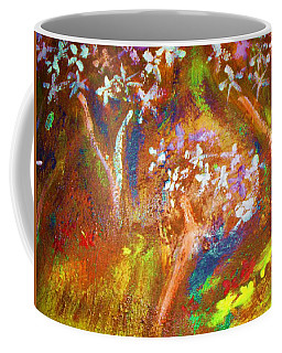 Coffee Mug featuring the painting Spring Blossom by Winsome Gunning