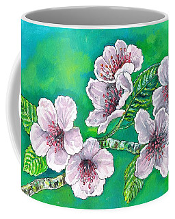 Coffee Mug featuring the painting Spring Blossoms by Val Stokes
