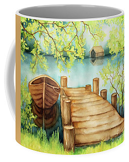 Spring Boat Coffee Mug by Inese Poga
