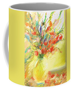 Coffee Mug featuring the painting Spring Bouquet by Frances Marino