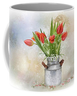 Spring Bouquet Of Tulips Coffee Mug