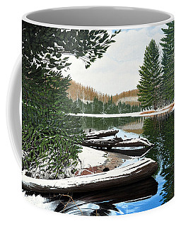 Coffee Mug featuring the painting Spring Breakup by Kenneth M Kirsch