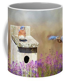 Coffee Mug featuring the photograph Spring Builders by Lori Deiter