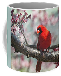 Spring Cardinal 2 Horizontal Crop Coffee Mug