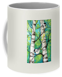 Spring Chickadees Coffee Mug
