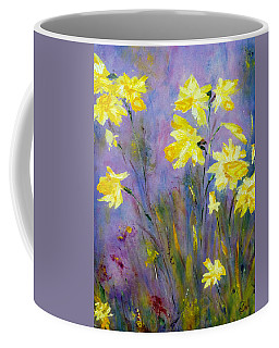 Spring Daffodils Coffee Mug by Claire Bull