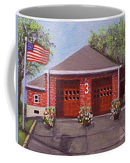 Spring Day At Willow Fire House Coffee Mug by Rita Brown