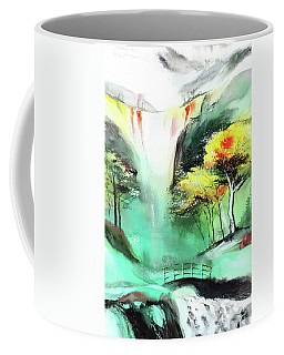 Coffee Mug featuring the painting Spring Fall by Anil Nene