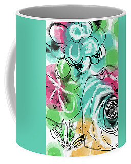 Coffee Mug featuring the mixed media Spring Floral 9- Art By Linda Woods by Linda Woods