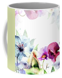 Spring Floral Background Coffee Mug
