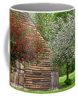 Spring Flowers And The Barn Coffee Mug