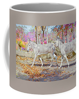 Coffee Mug featuring the painting Spring Gallop Edition 3 by Judy Kay