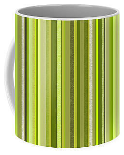 Spring Green Stripe Abstract Coffee Mug