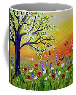 Coffee Mug featuring the painting Spring Has Sprung by Sonya Nancy Capling-Bacle