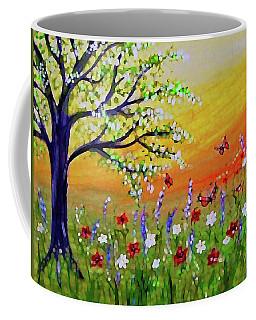 Coffee Mug featuring the painting Spring Has Sprung by Sonya Nancy Capling-Bacle