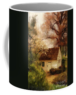 Coffee Mug featuring the digital art Spring House In The Spring by Lois Bryan