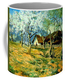 Coffee Mug featuring the painting Spring In Poland by Henryk Gorecki