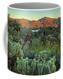 Spring Lake View Coffee Mug by Sue Cullumber