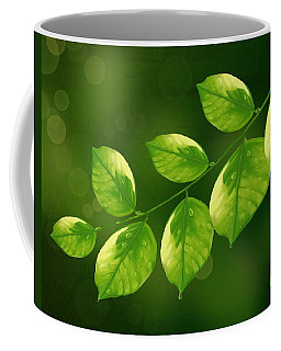 Coffee Mug featuring the painting Spring Life by Veronica Minozzi