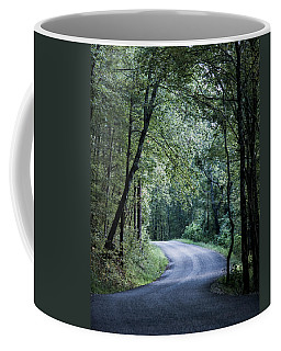 Coffee Mug featuring the photograph Spring Light On A Forest Road by Parker Cunningham